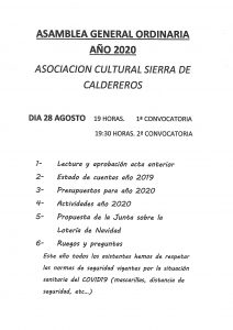 Asamblea General Ordinaria Año 2020