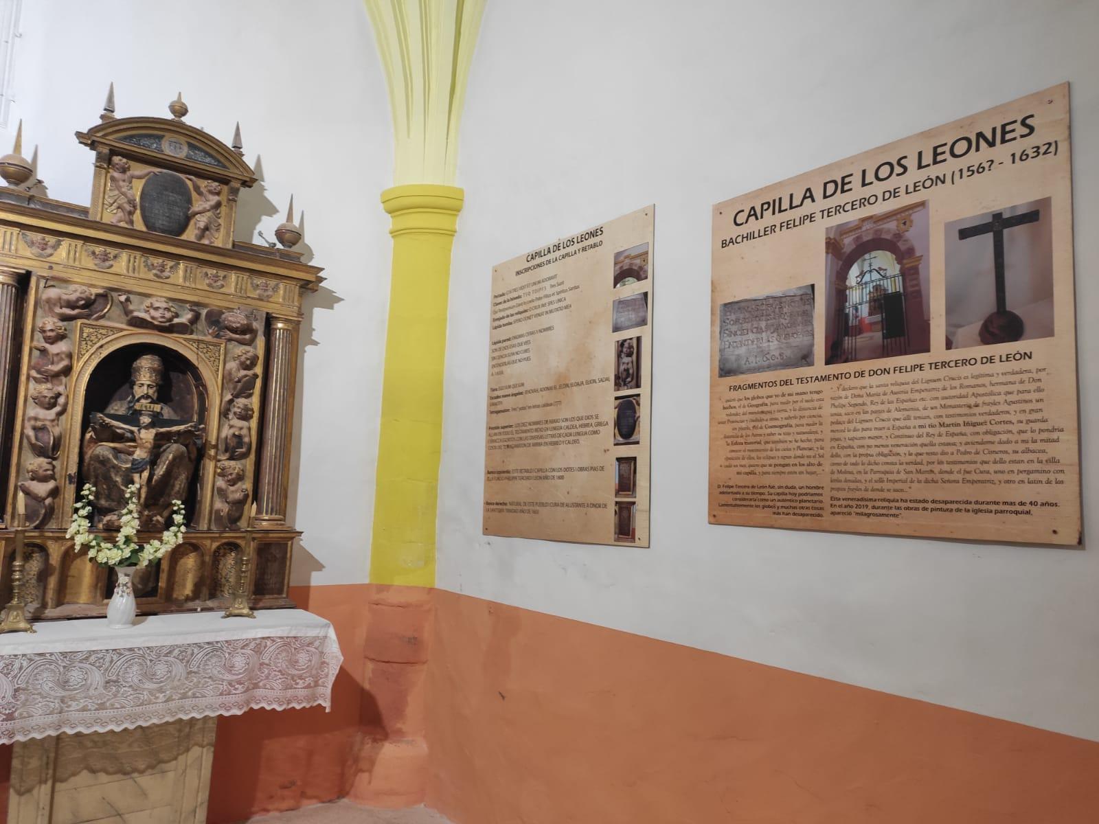 Señalizada la Capilla de los Leones de la iglesia